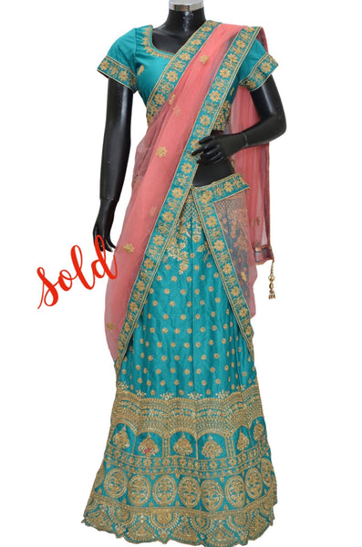 Ethnic embroidered lengha #fdn7076-501