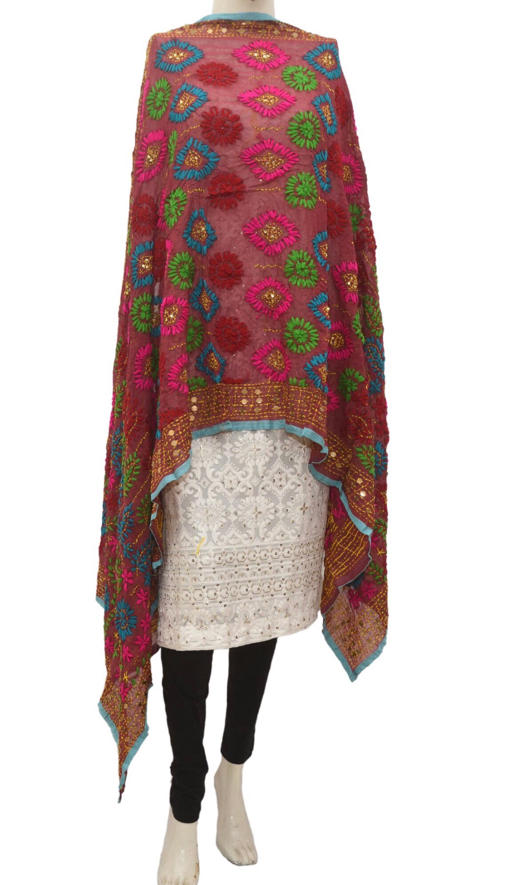 Embroidered dupatta # fdn924-141