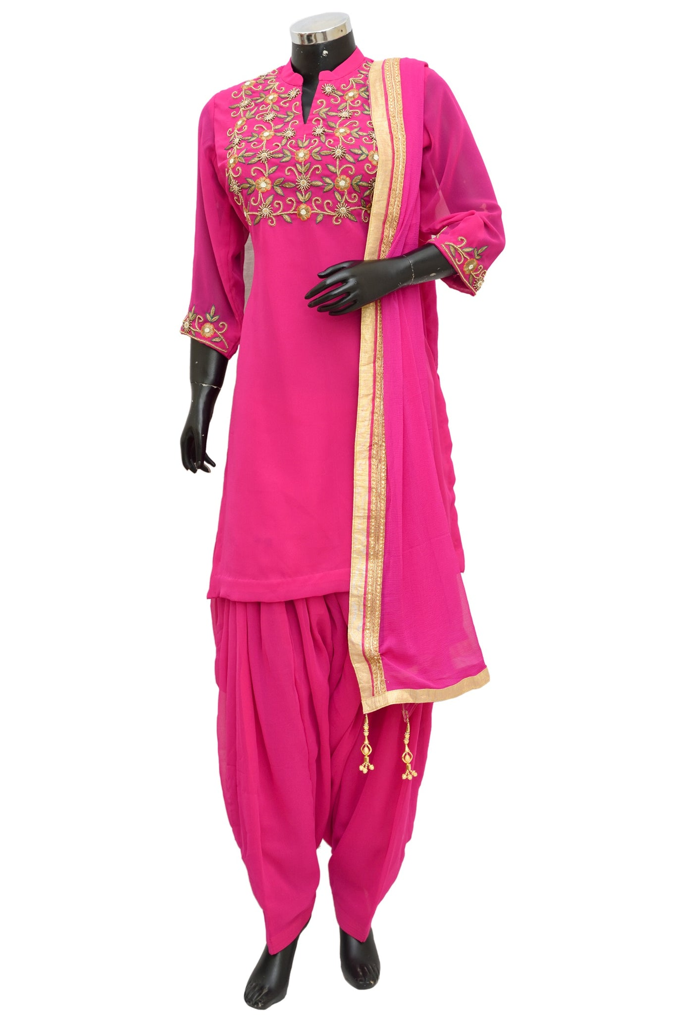 Pink patiala embroidered set #fdn1171-321