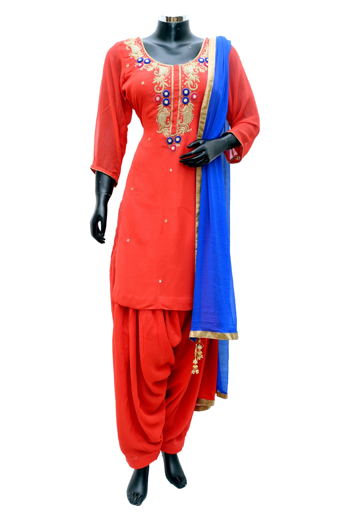Embroidered patiala sets #fdn808-481