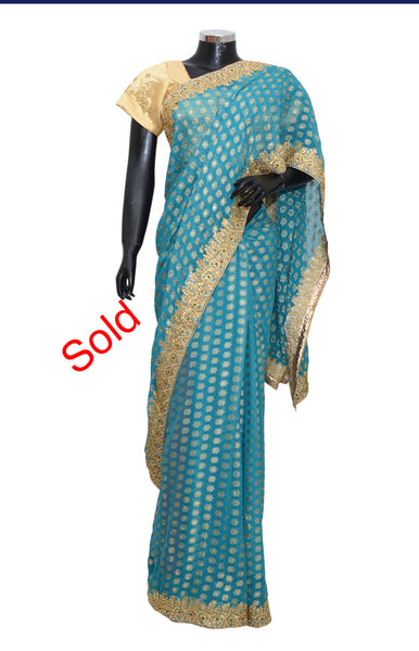 Fancy embroidered saree #fdn6052-2901