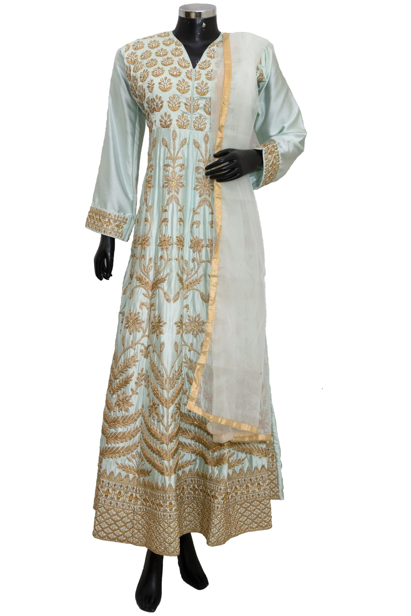 Long embroidered dress #fdn1445-501