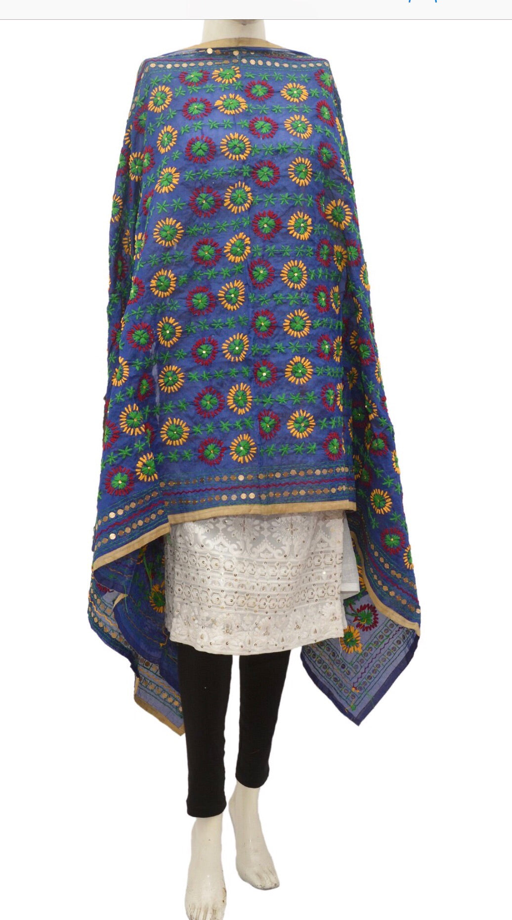 Embroidered dupatta #fdn930-141