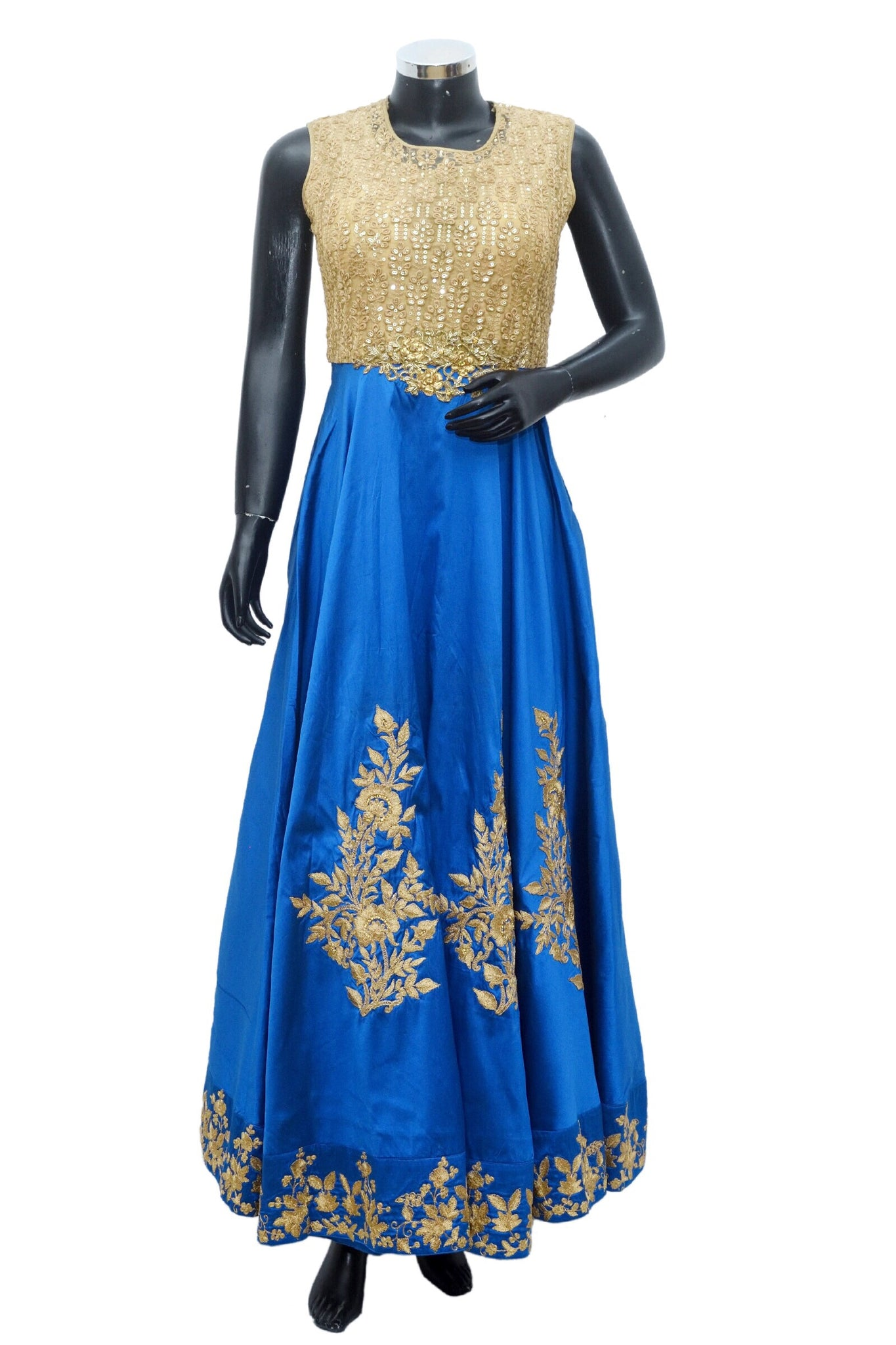 Blue and gold gown #fdn886-631