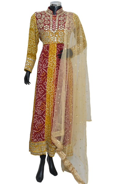 Bandhej anarkali dress #fdn901155-701
