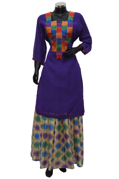 A kurta with fancy skirt #fdn683-411