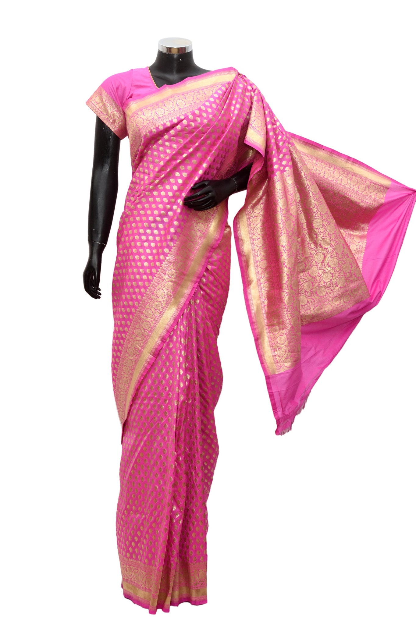 Silk saree in pink #fdn902-331