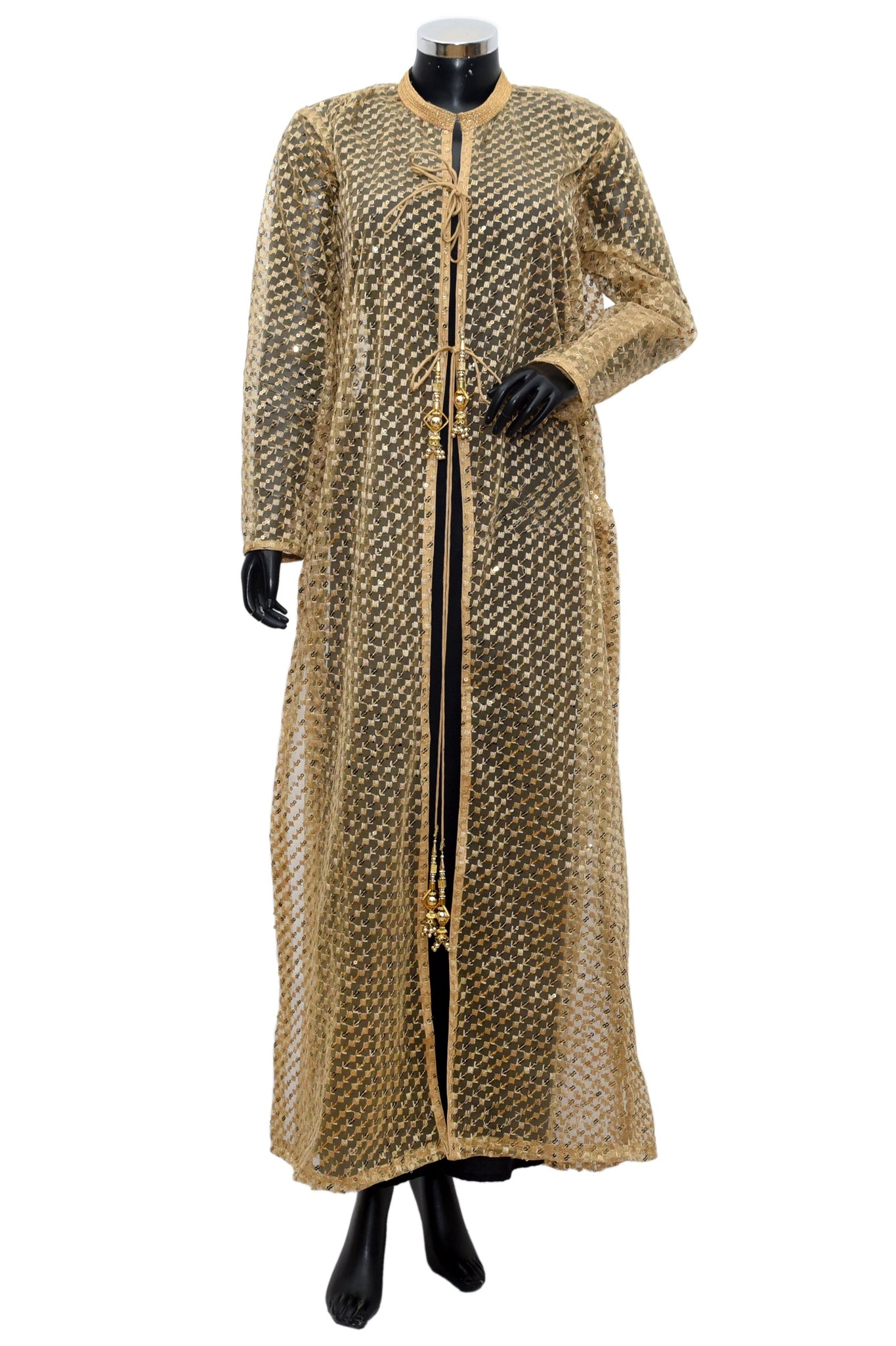 A long net jacket dress #fdn976-481