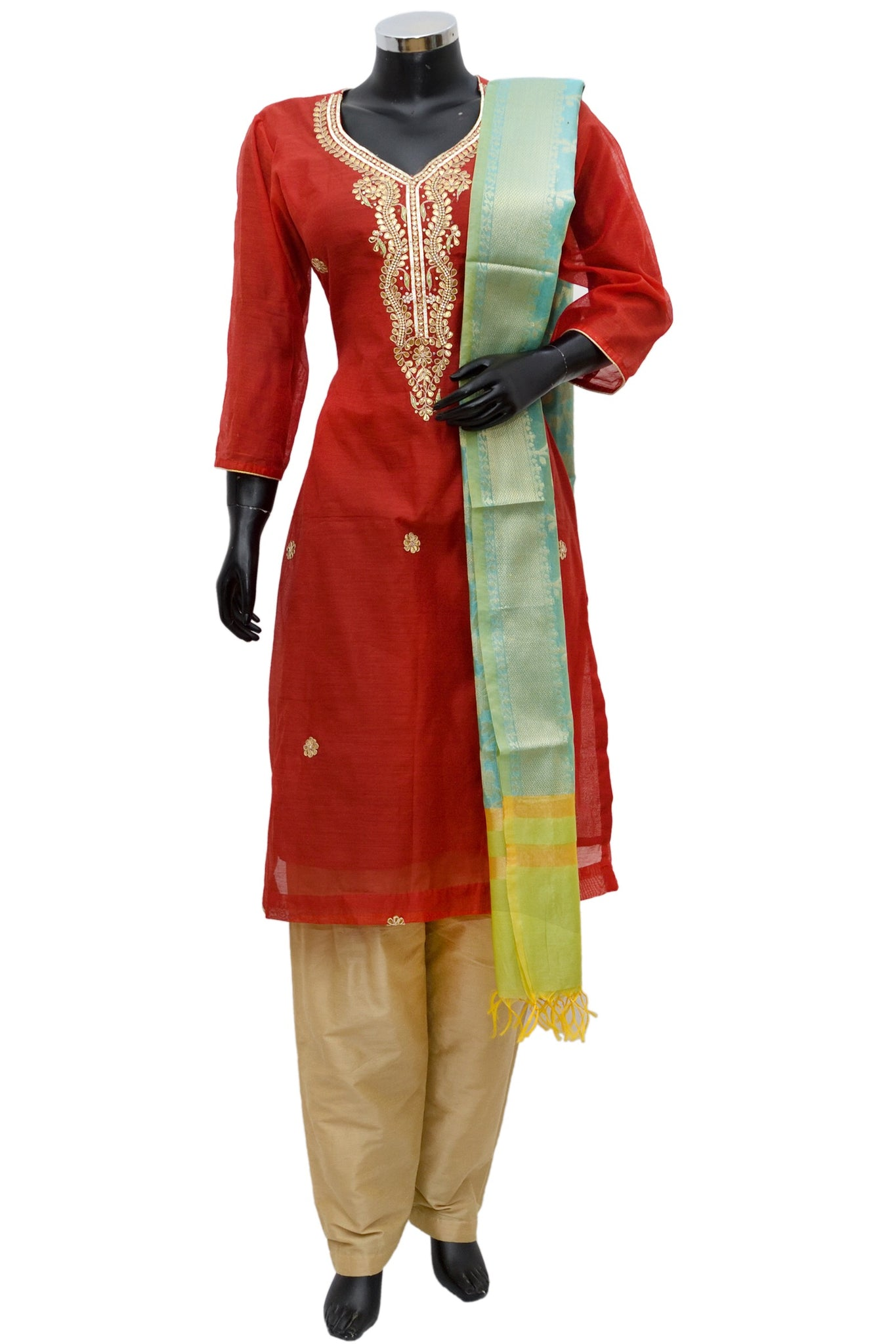 Chanderi silk full suit set #fdn706-251