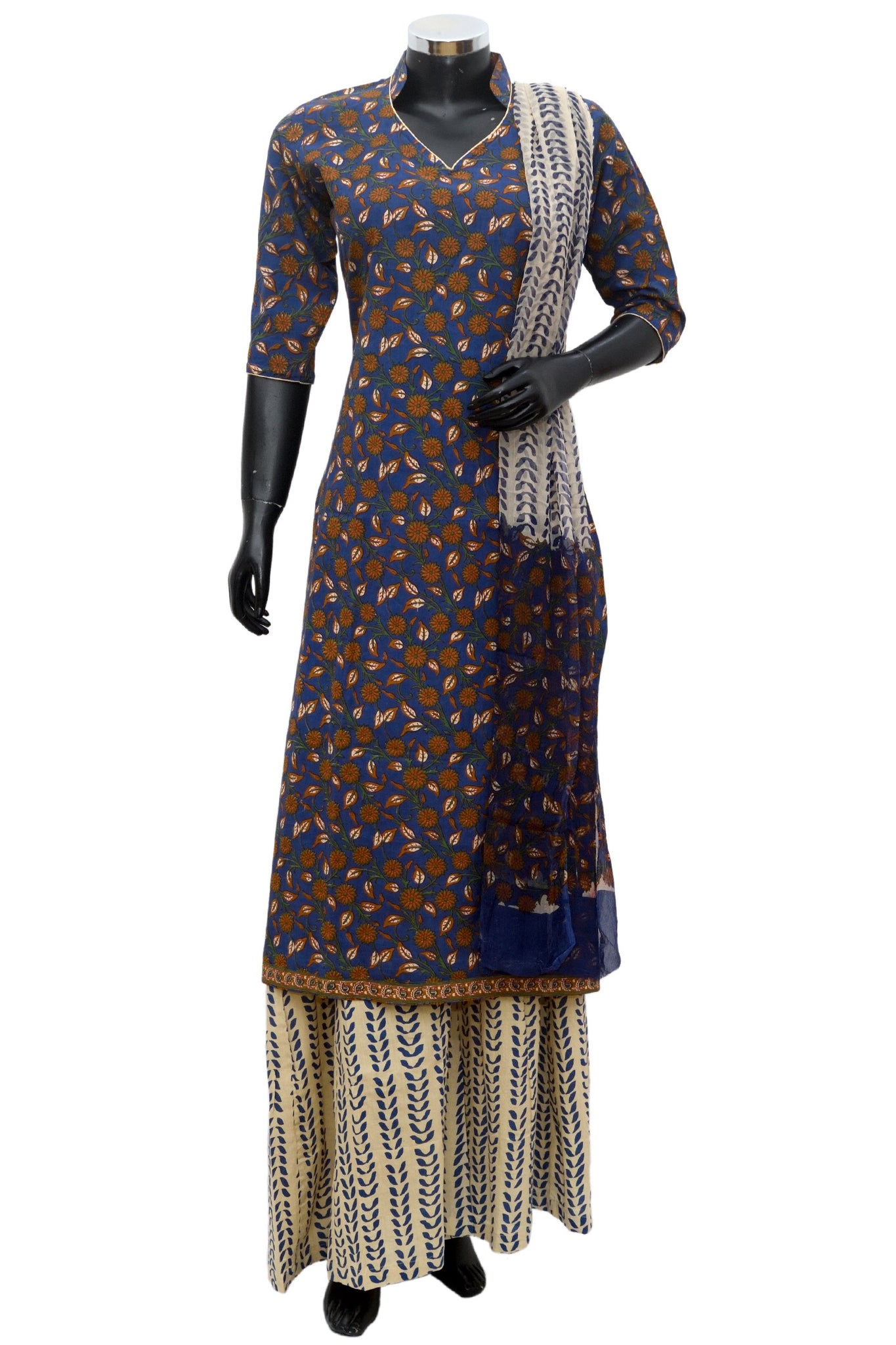 A printed palazo dress fdn874-161