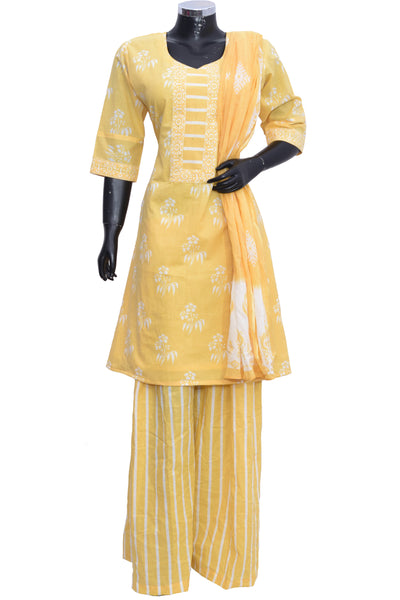 Cotton suit with palazzo #fdn901193-201