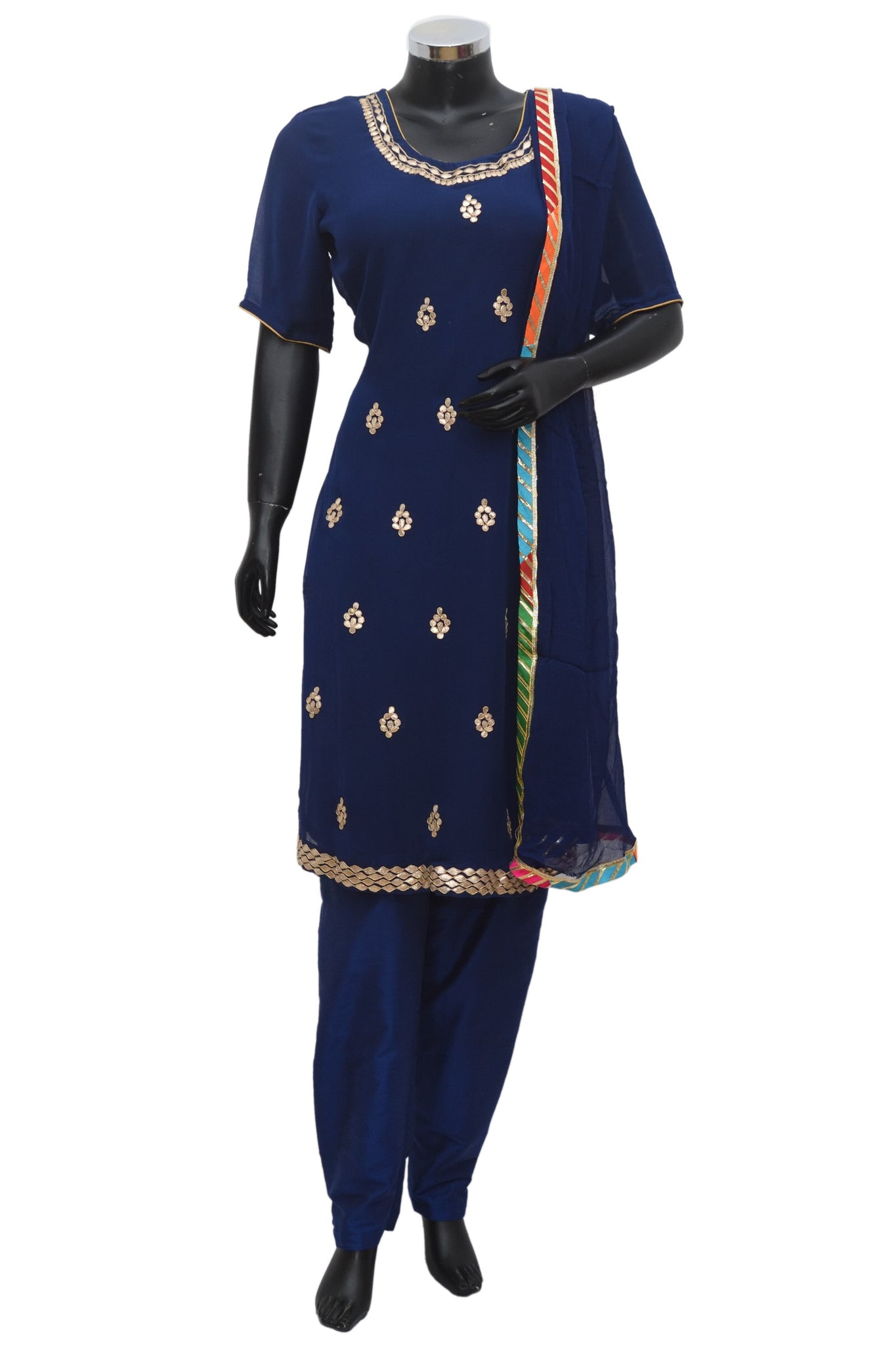 A georgette embroidered suit #fdn878-271