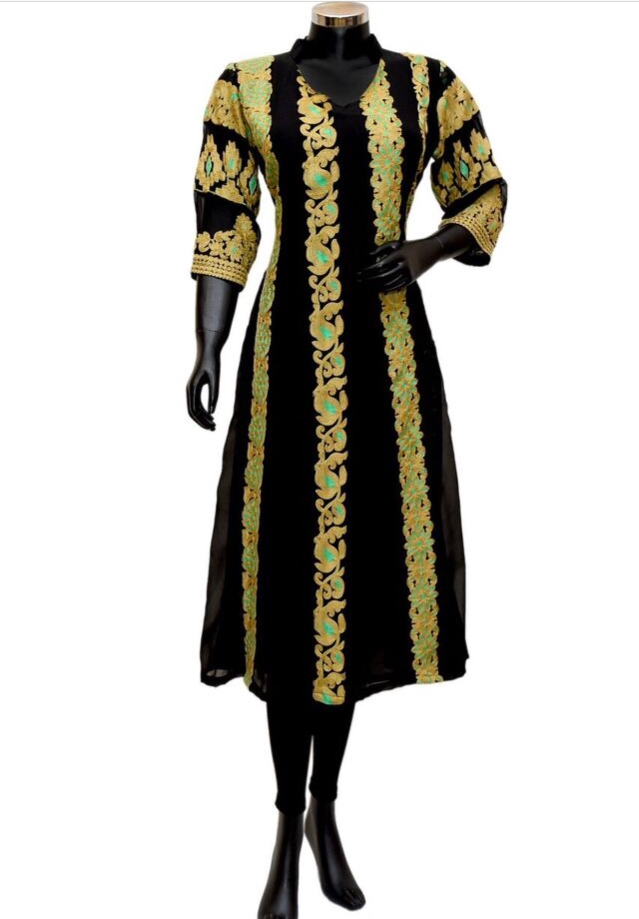 Black embroidered long kurta #fdn842-161