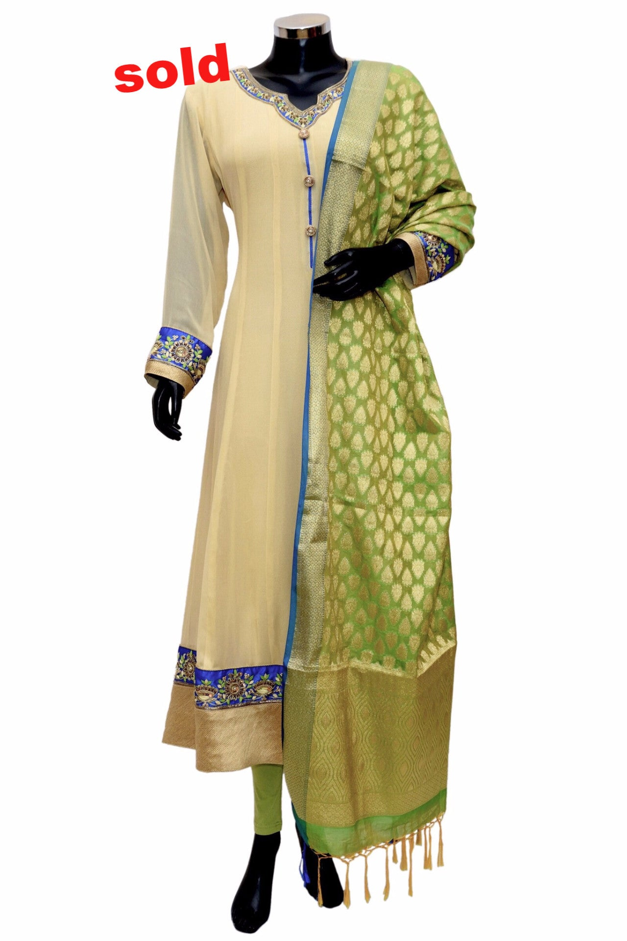 A long embroidered anarkali dress # fdn0292
