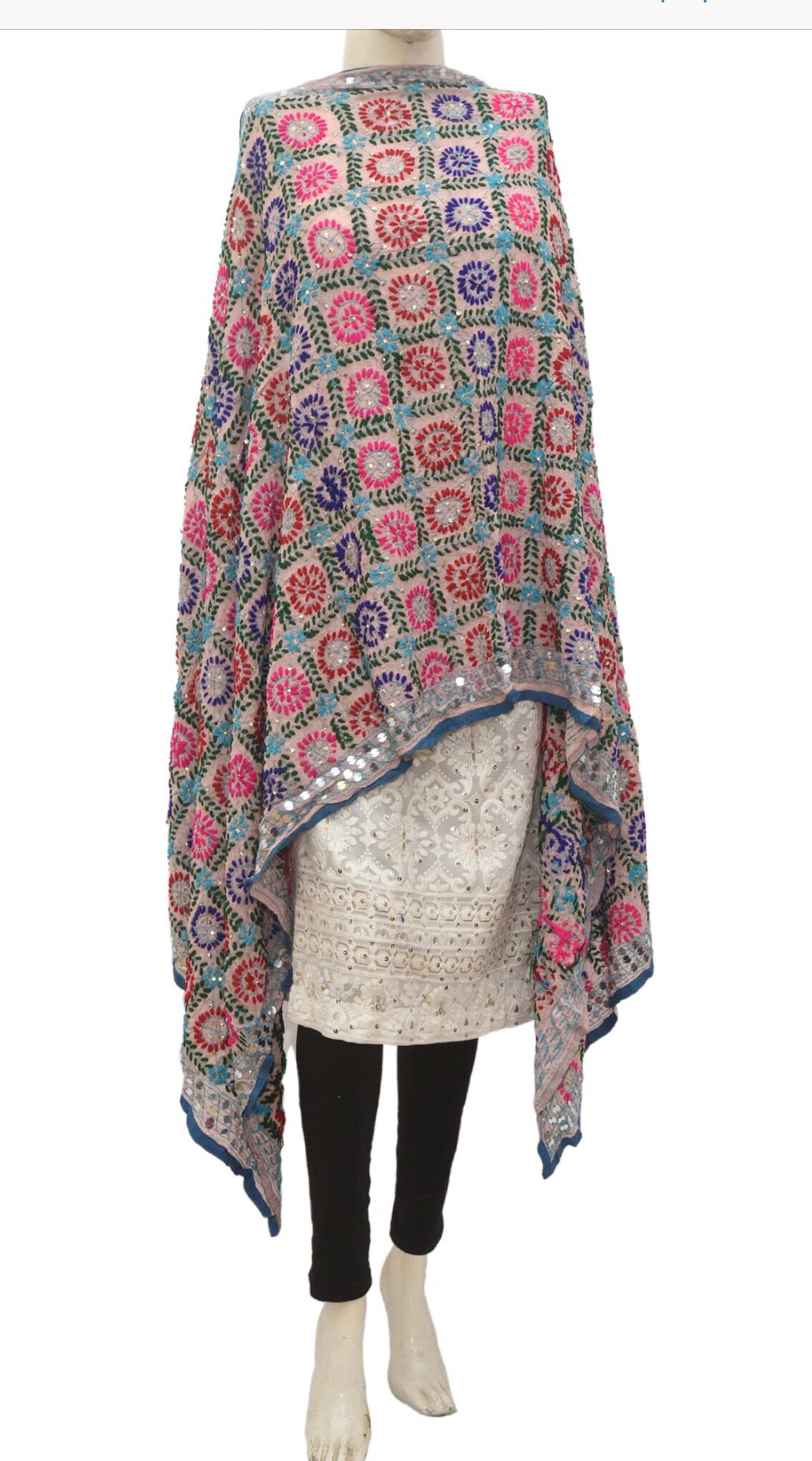 Embroidered dupatta #fdn932-141