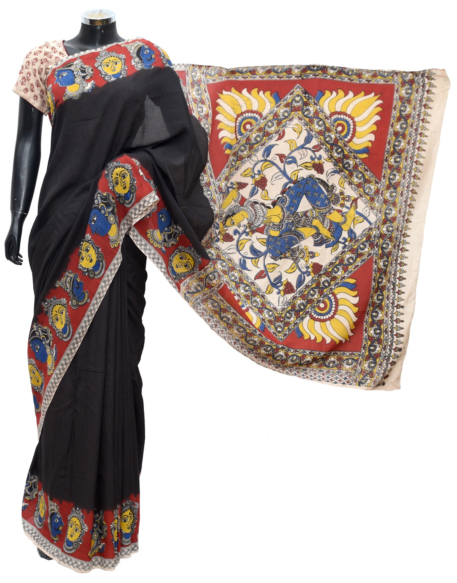 Kalamkari saree soft cotton fdn1001-211