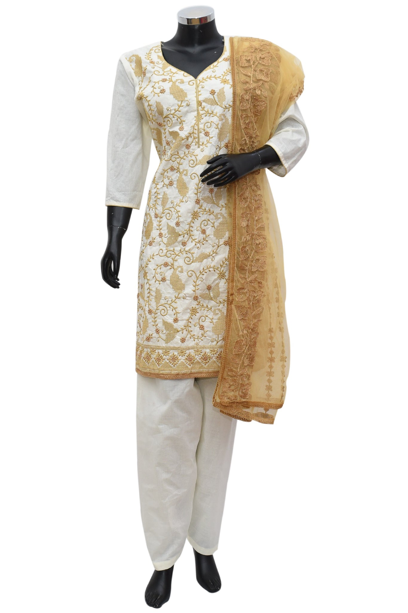 Heavy embroidered kurta full set # fdn737-191
