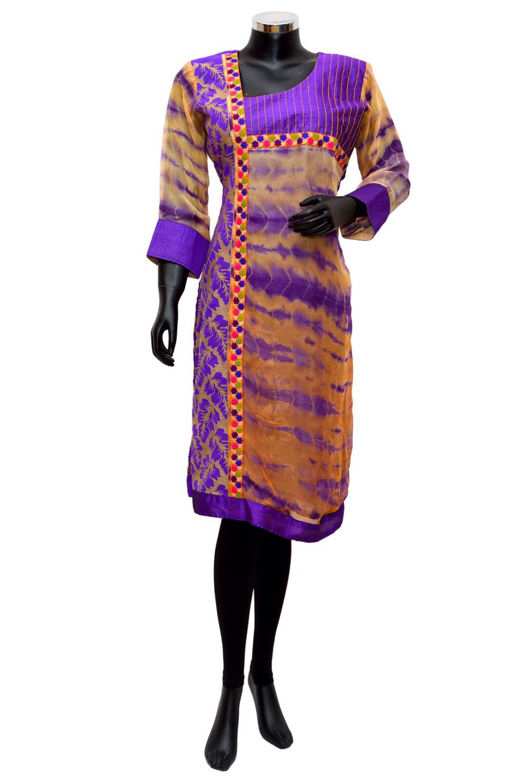 Tie dye embroidered kurta #fdn833-171