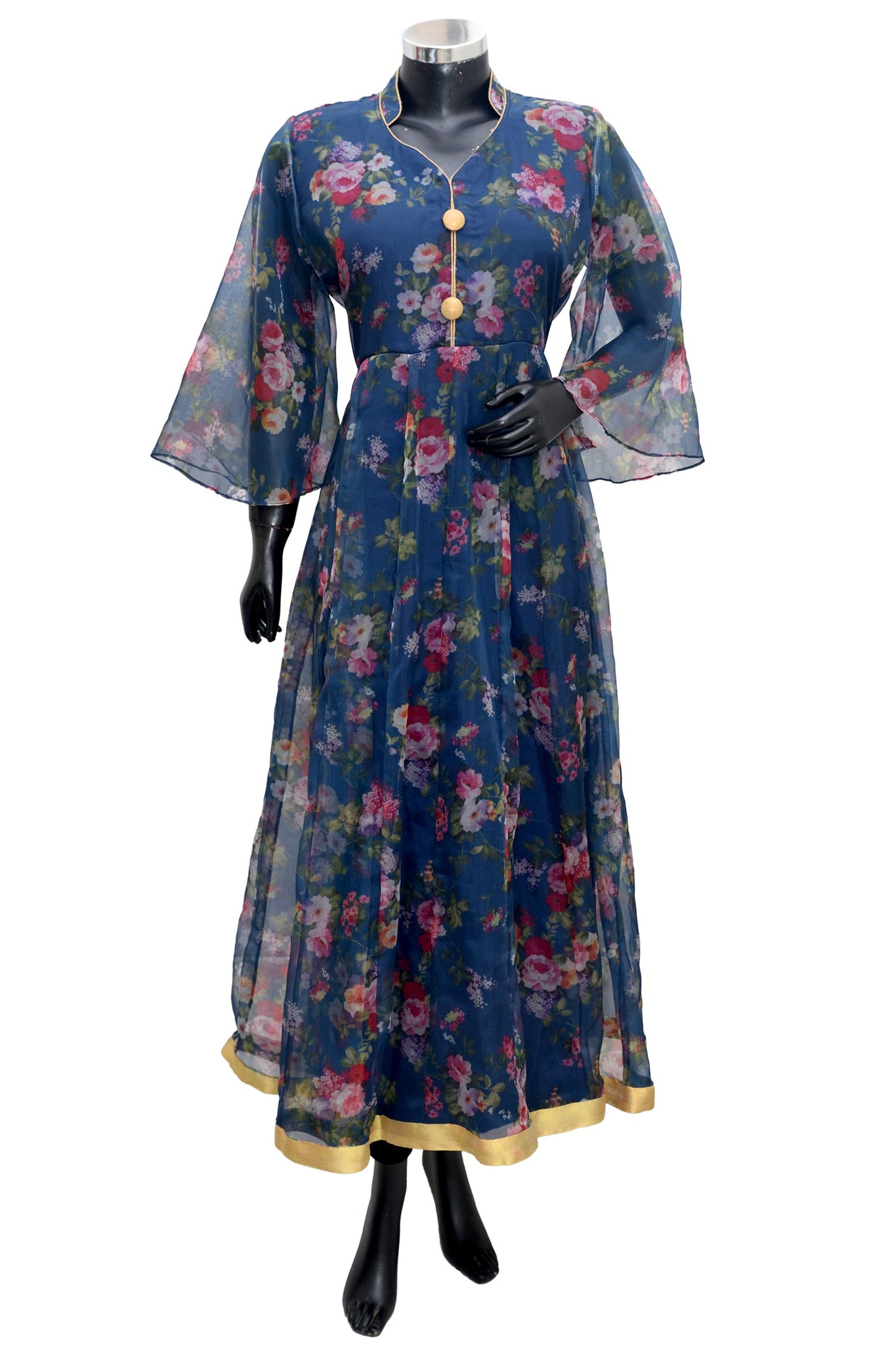 Long floral maxi dress #fdn1635-201