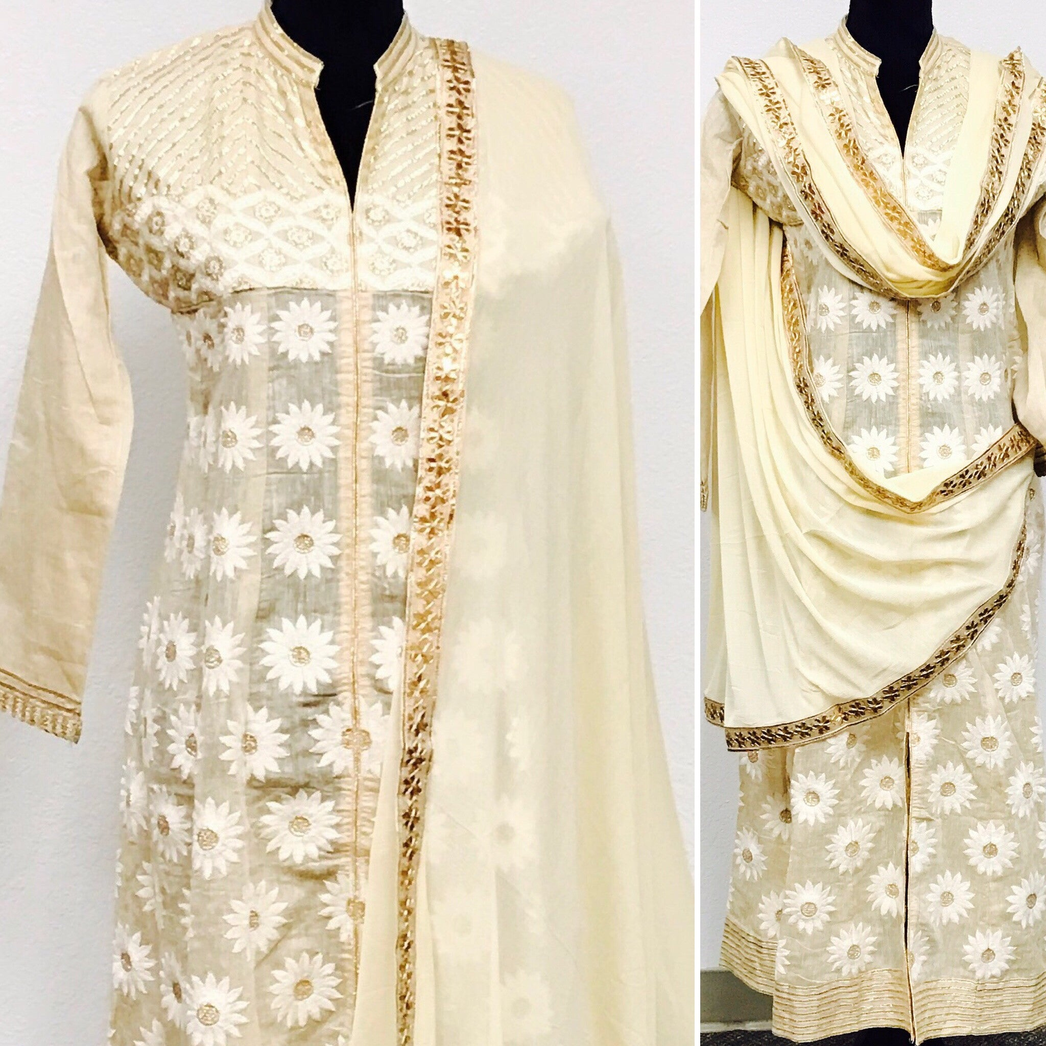 Beige color embroidered kurta fdn0219