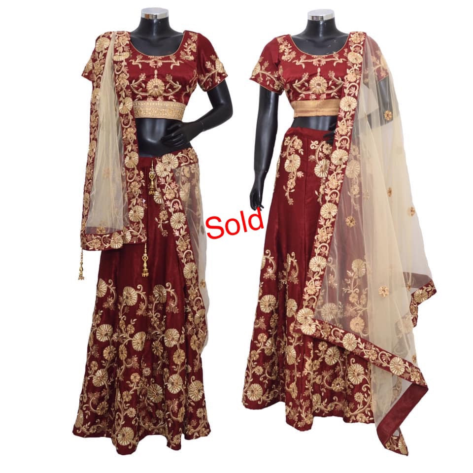 Heavy embroidered festive lengha #fdn7190-71