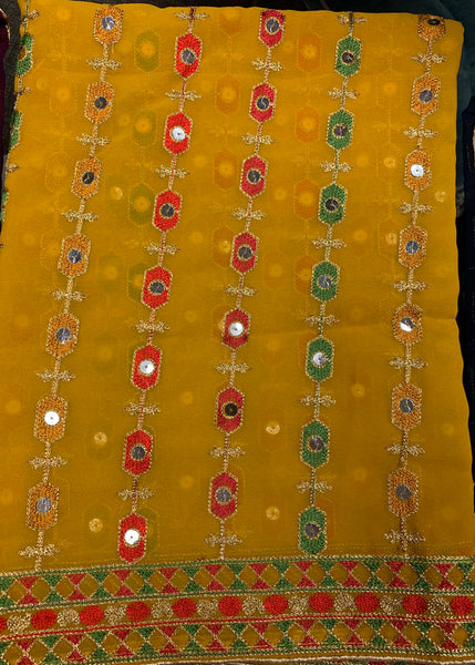 Georgette embroidered dupatta #fdn90118-151
