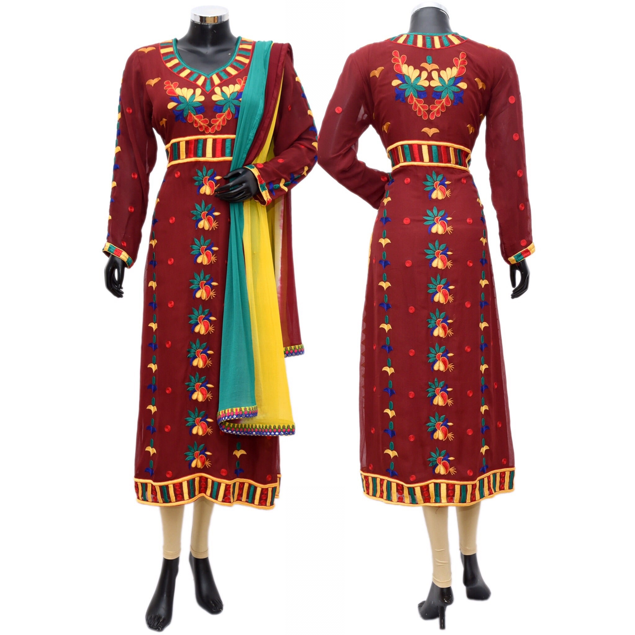 Colorful embroidered dress #fdn767-871