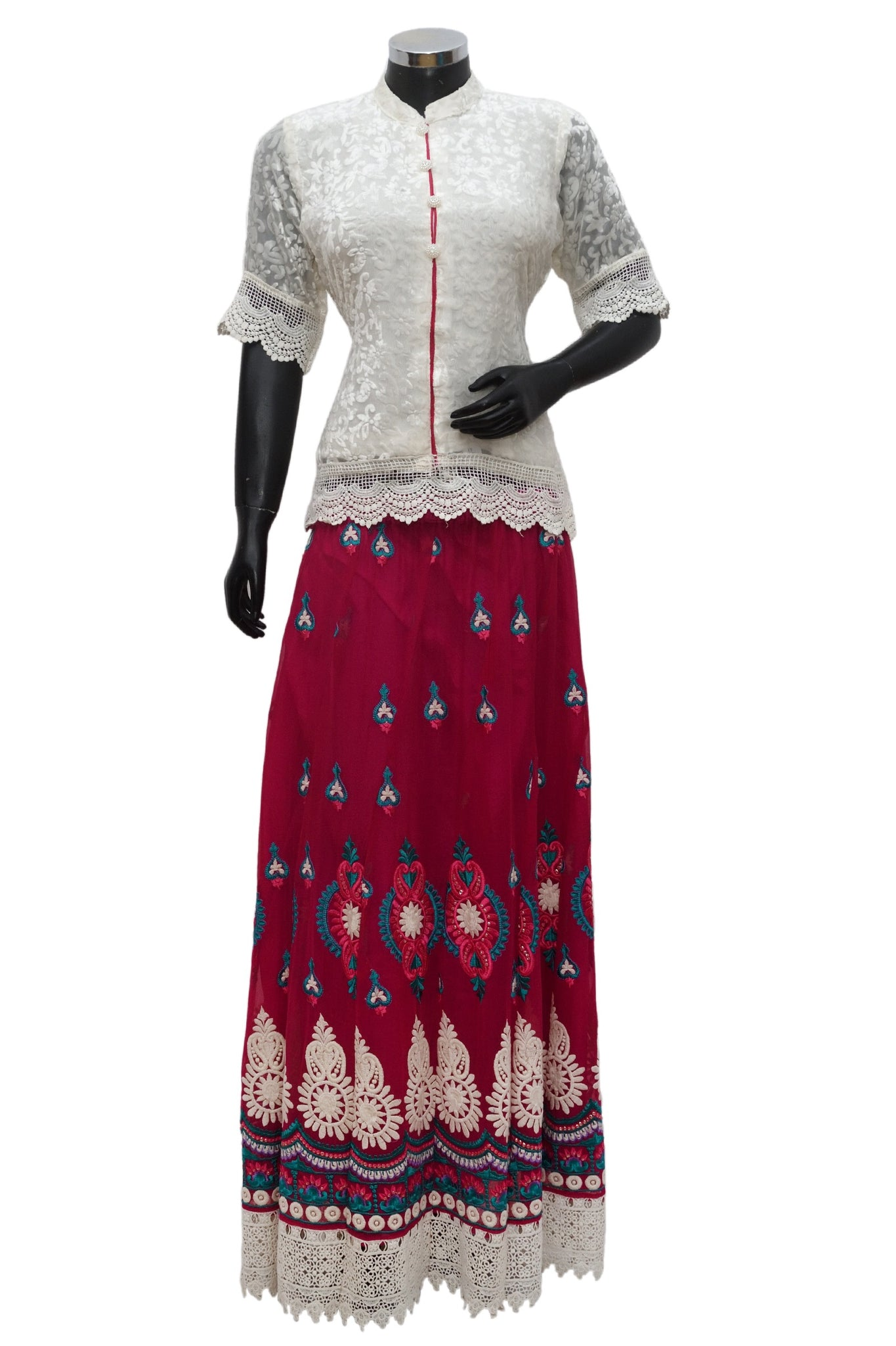 Short top with embroidered skirt #fdn786-481