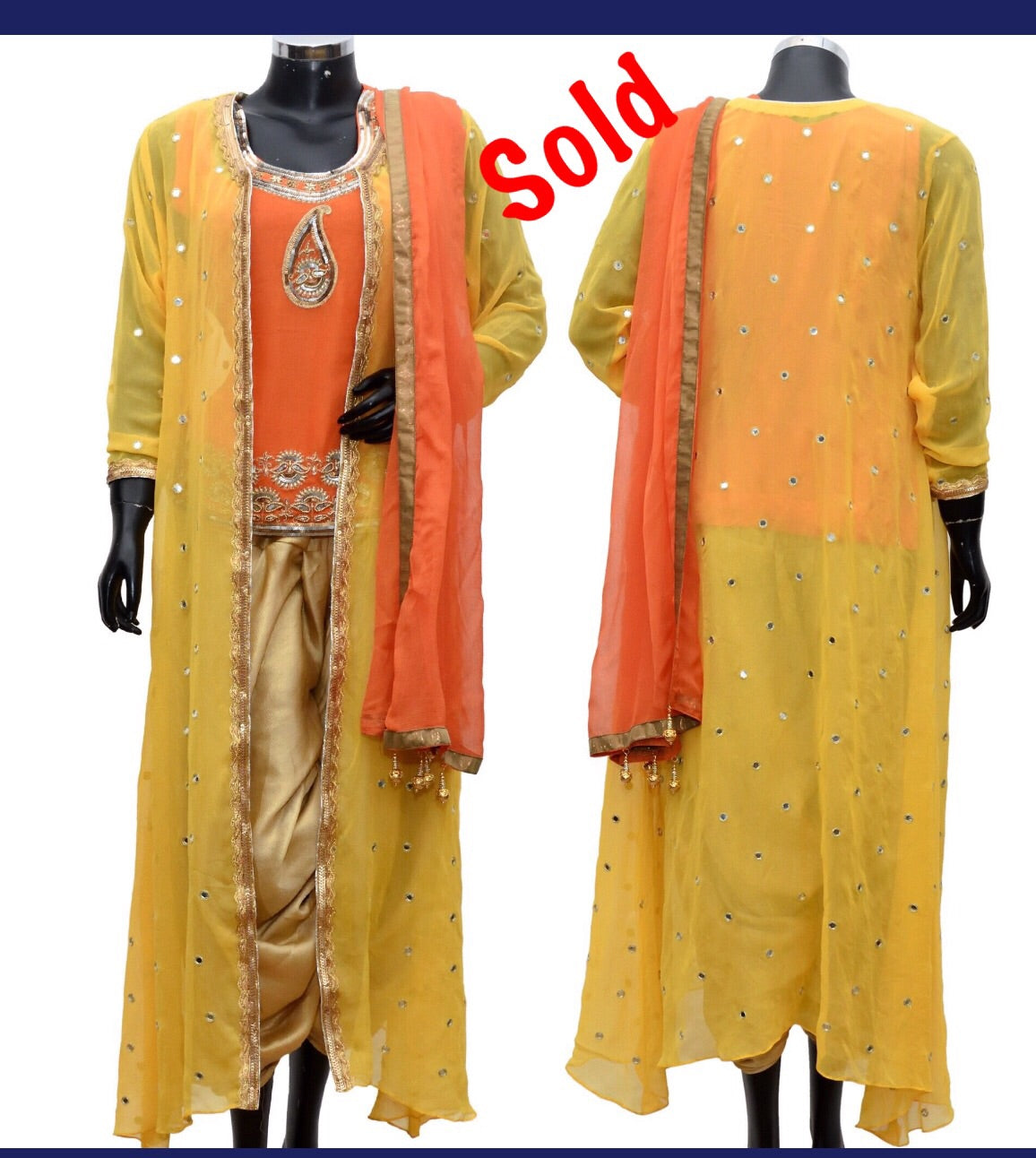 Dhothi dress with long jacket #fdn1096-521