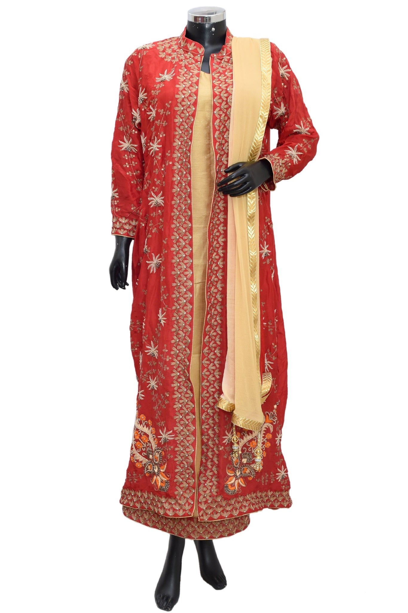 Embroidered long jacket dress #fdn1252-791