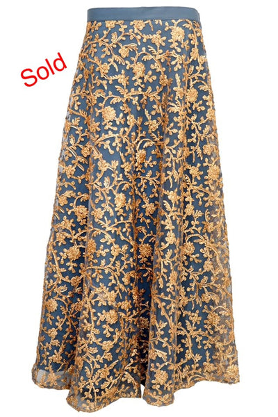 Fancy embroidered skirt #fdn4095-201