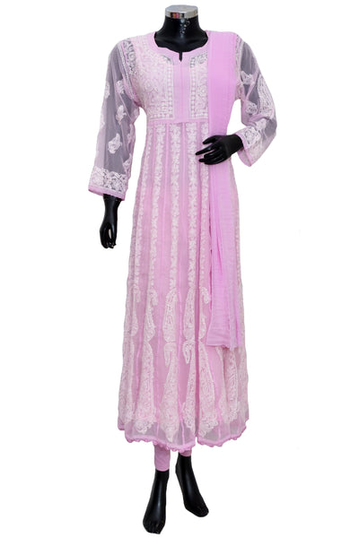 Chikankari long dress #fdn901158-201