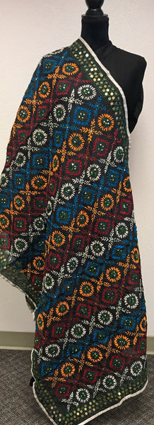 Embroidered dupatta / shawl # fdn631-131