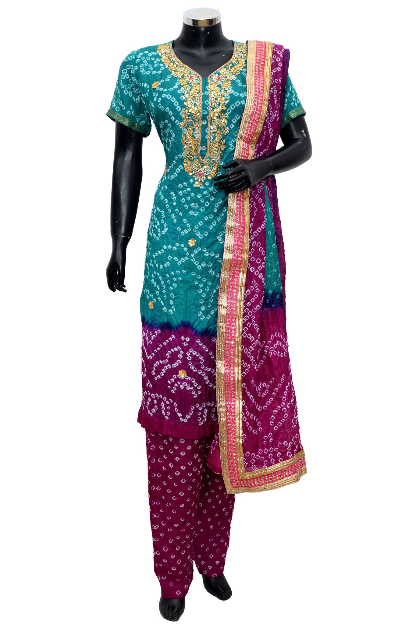 Art silk bandhej full set #fdn1033-171