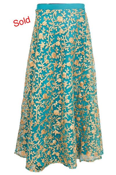 Fancy embroidered skirt # fdn4096-201