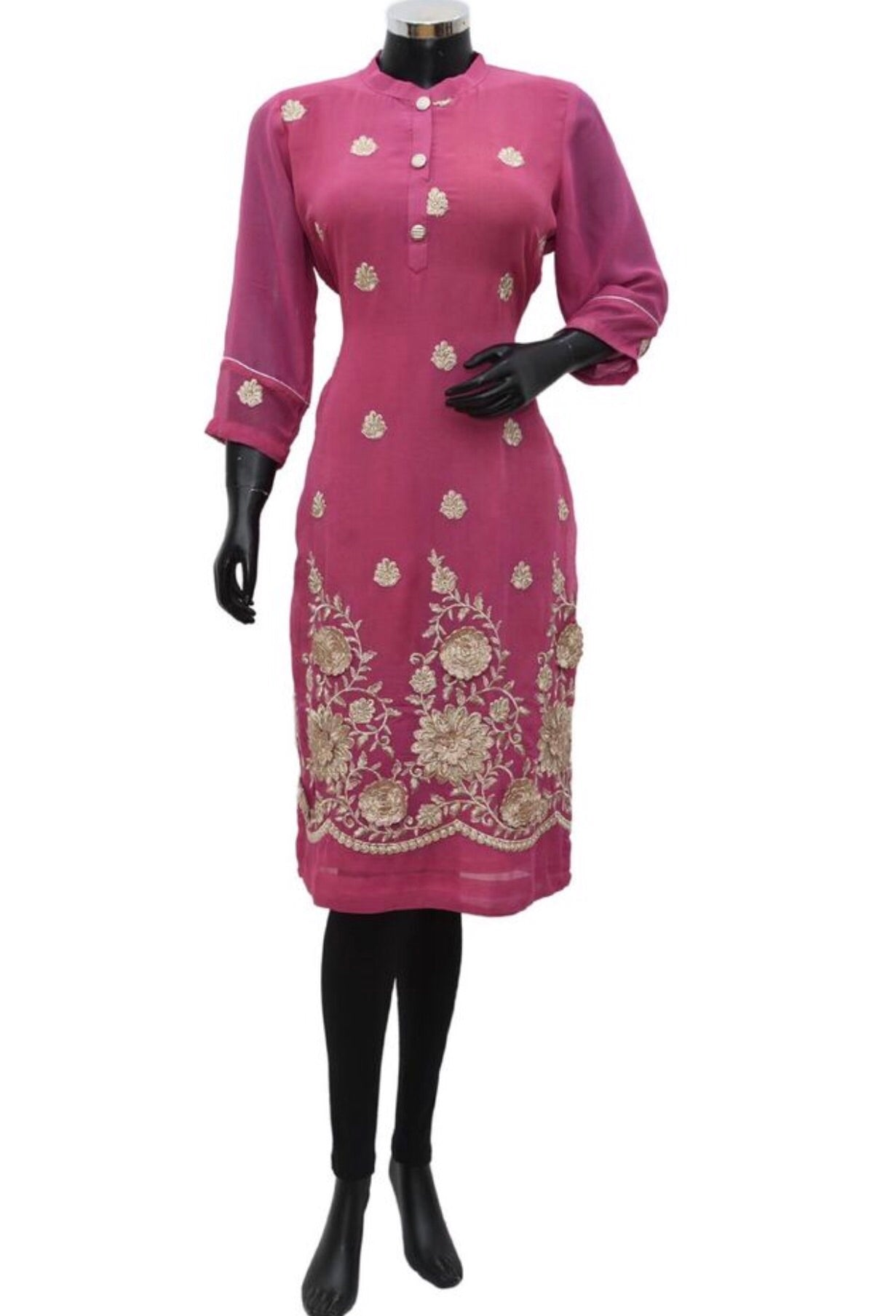 Embroidered long top #fdn838-191