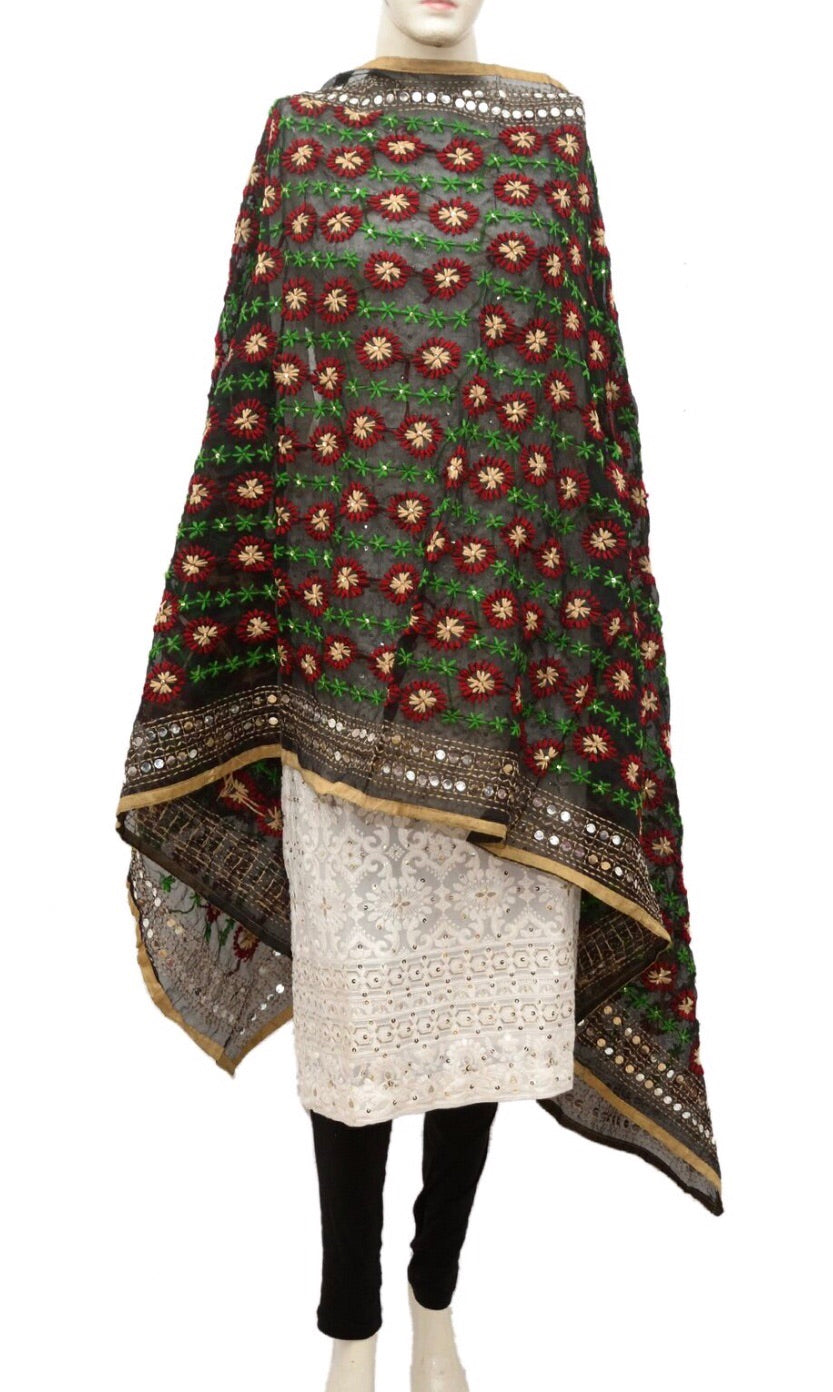 Embroidered dupatta #fdn946-141