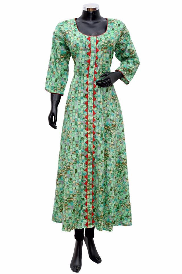 A long dress in green #fdn594-111