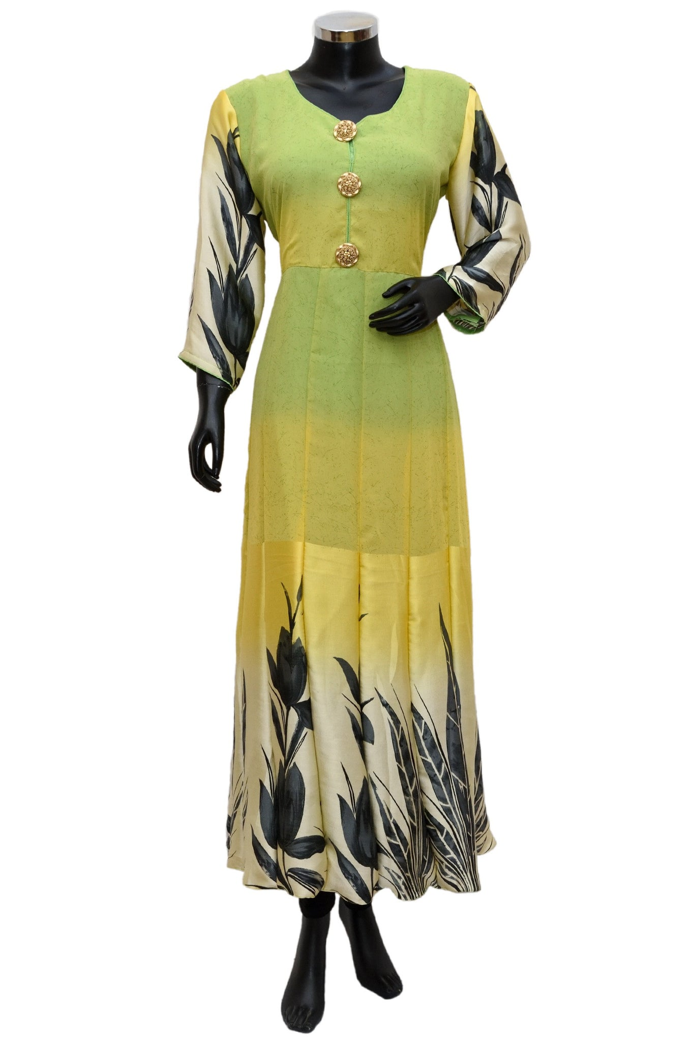 Long maxi dress in yellow color #fdn0502 / 23