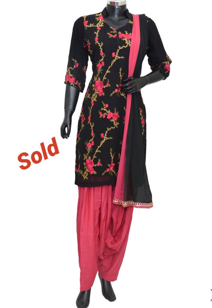 Embroidered patiala set #fdn8026-601
