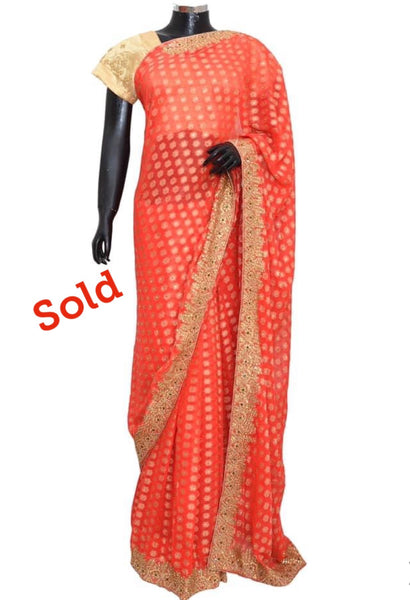Fancy embroidered party wear saree #fdn6050-201