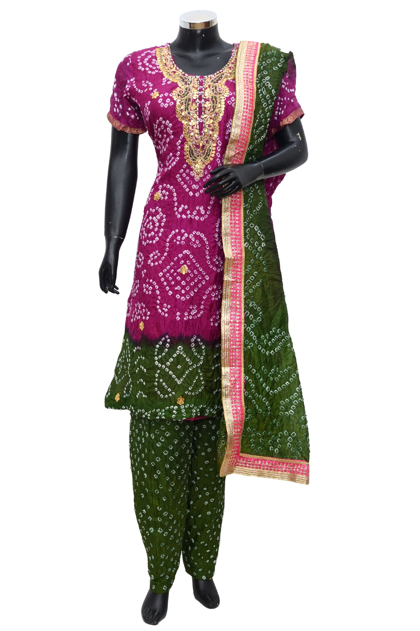 Art silk bandhej full set #fdn1038-171