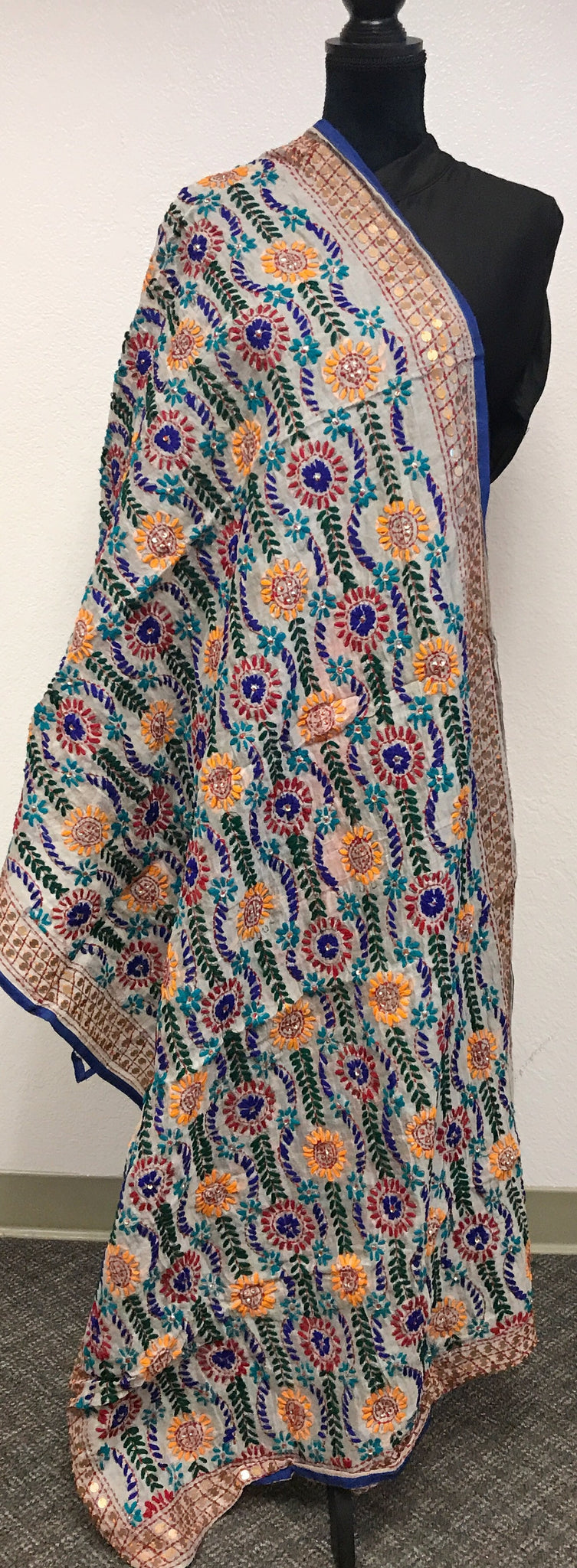 Embroidered dupatta #fdn627-131