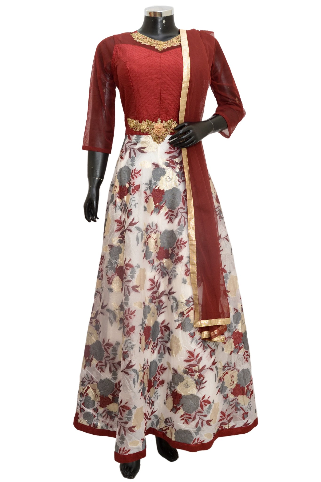 Embroidered party wear dress #fdn1401-481