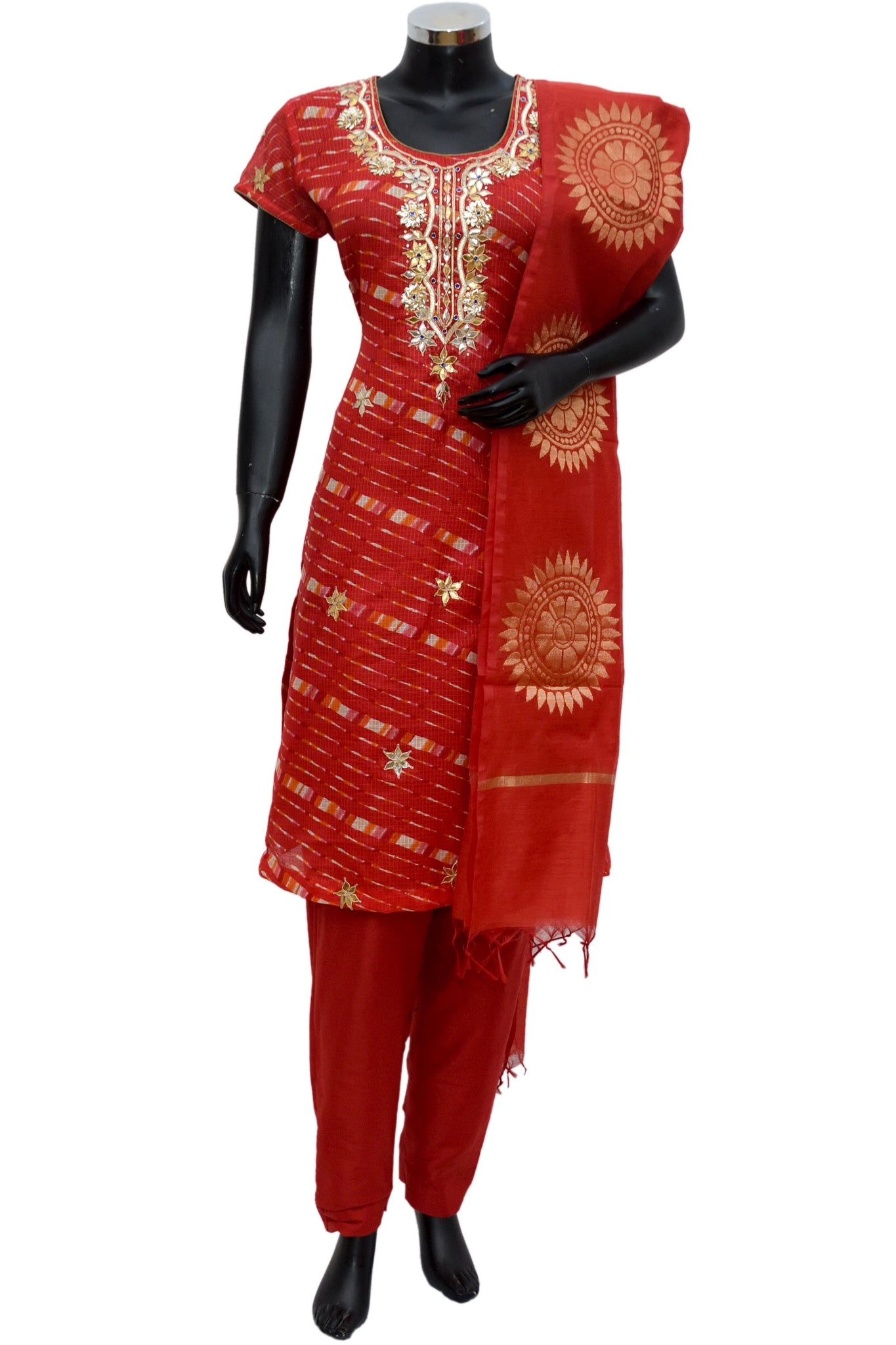 Chanderi silk gotta work full set #fdn701-251