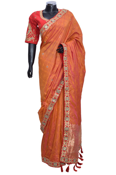 Silk Saree with embroidered blouse #fdn901188-301