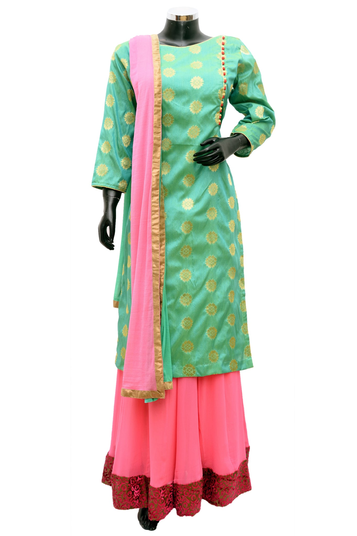 Long kurta with skirt and dupatta #fdn796-321
