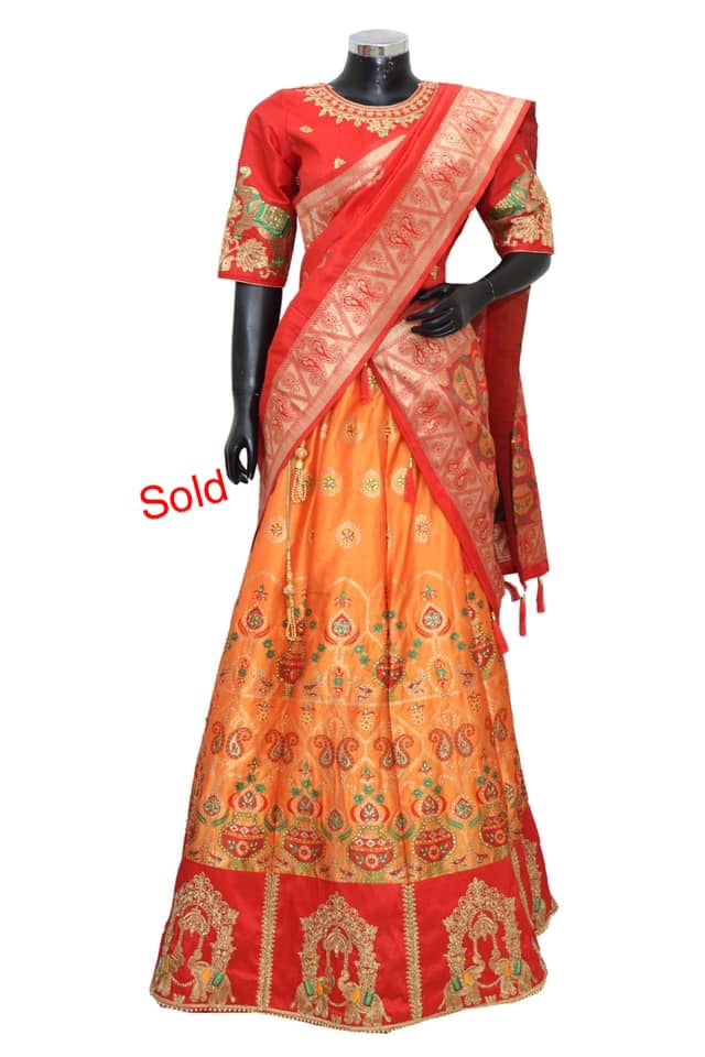 Embroidered lengha #fdn4036-1001