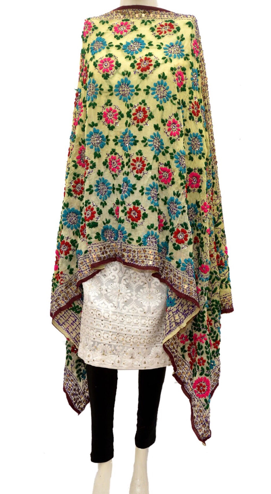 Embroidered dupatta #fdn943-141
