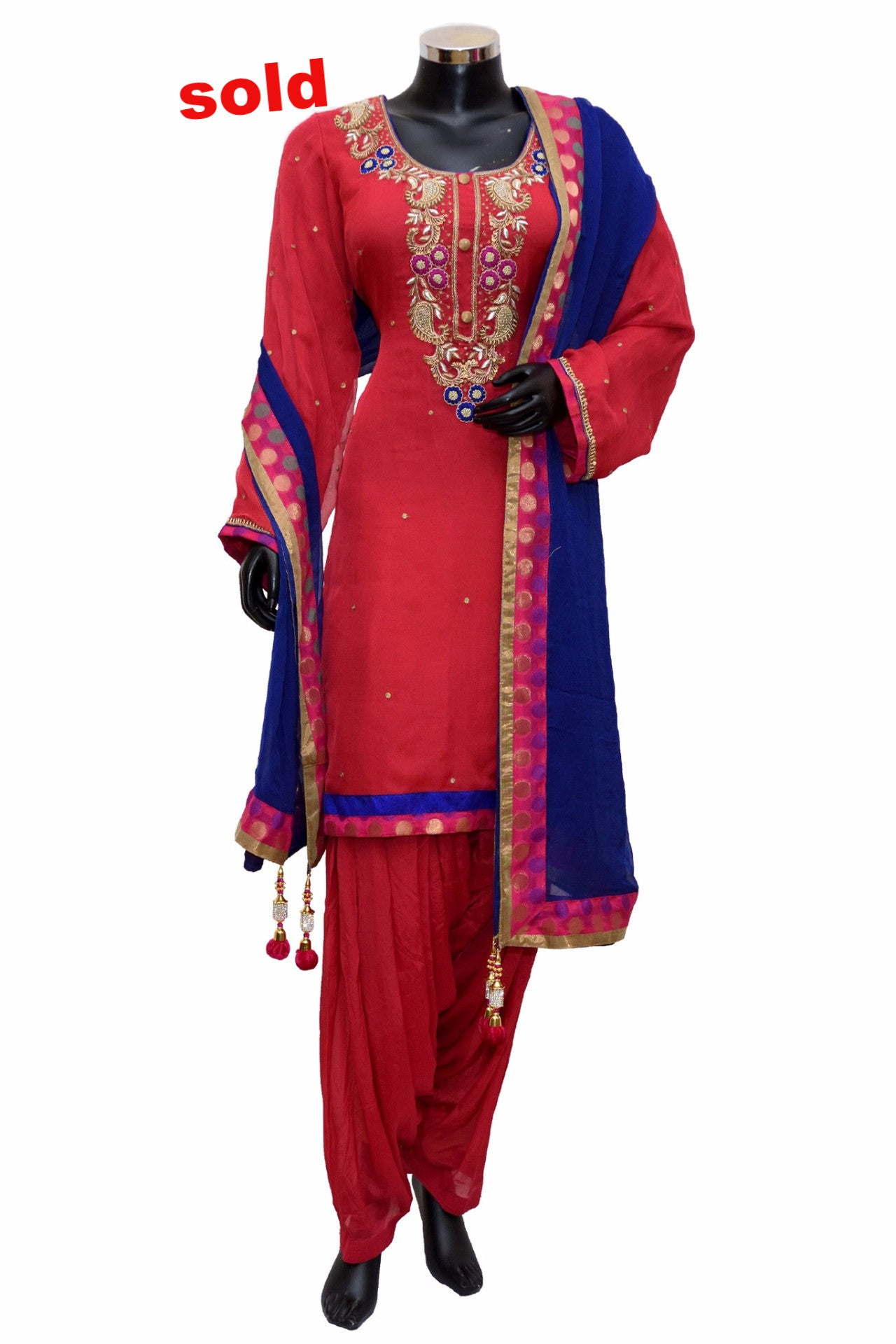 Patiala suit in hot pink and mergenta # fdn0318